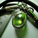 6843-REAL NATURAL GEM STONE DEEP RIVER NAGA EYE THAI AMULET LUCKY RARE GREEN