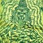 8452-HOLY FLAG CLOTH LP KALONG AMULET THAI REAL TIGER FACE LERSRI HEALTH MONEY