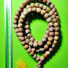 6847-REAL THAI AMULET NECKLACE SACRED BUDDHA RELIC STONE 108 BEAD DOT STYLE BIG