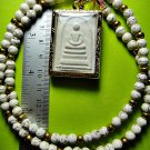 2412-THAI REAL AMULET LUCKY RICHLY WEALTH SOMDEJ TABLET WAT RAKANG OLD MADE 1993