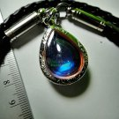 6864-THAI REAL AMULET PENDANT NAGA EYE RIVER GEM TEARDROP NATURAL STONE BLUE SKY