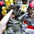 9085-THAI AMULET TIGER MASTER FACE BRONZE STATUE 1 TAKUD REAL LP KALONG 7 INCH