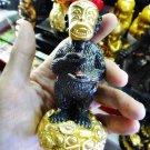 8141-HOLY GOLD FACE MONKEY SIHU-HATA KUBA SUBIN AMULET THAI GAMBLING RICH REAL