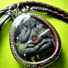 9069-THAI AMULET PIDTA CLOSED EYE 3 TAKUD MILLIONAIRE FAST RICH MONEY LP CHEEN