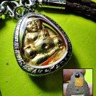 6262-SANKAJAI RICH GOD AMULET THAI LUCKY REAL 18K GOLD MASK WEALTH RICH LP UPP
