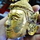 9579-REAL THAI AMULET HEAD PHALUCK FACE MASTER EDITION GOLD 18K PLATED LP KALONG