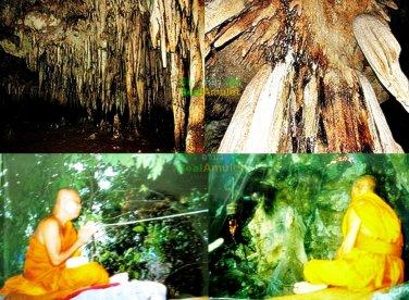 0155-THAI AMULET TAKUD WATCHARATAD LEKLAI 59 TYPE MIX LP SOMPORN SILVERY BLACK S