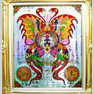 6062-THAI REAL AMULET SOMDEJ PAINT BUTTERFLY LOVE RICH SPIDER KUBA KRITSANA 2011