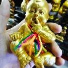 8408-BOY SPIRIT GUMAN THONG FETUS AJHAN KOM AMULET THAI CATCH MONEY FAST RICHLY