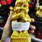 6334-THAI REAL AMULET GUMAN THONG BOYS 27 SPIRIT RICHLY LP GOY MASTER GOLD 2013
