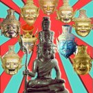 2220-MASTER LERSRI HERMIT GOD REAL AMULET THAI RICHLY MEDITATION MERCY LP PHOMA