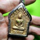 ก REAL THAI AMULET OLD CLAY KHUN PHAN LP TIM TAKUD PLAIL KUMAN NICE GOLD 1972