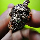 6711-GLOSSY SKULL PENDANT AMULET LUCKY MONEY RICH CHARM THAI REAL LP LEK COPPER
