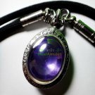 0254-REAL NATURAL GEMS STONE PENDANT LEKLAI NAGA EYE THAI AMULET MONEY VIOLET