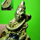 2309-THAI REAL AMULET NGUNG GAMBLE ALIEN FACE SNAKE COBRA AC KOM TAKUD YELLOW