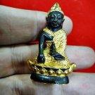 ก SMALL OLD THAI BUDDHA FRIGURE AMULET MEDITATION PHA-KRING WAT SUTAD BOAT SEAT