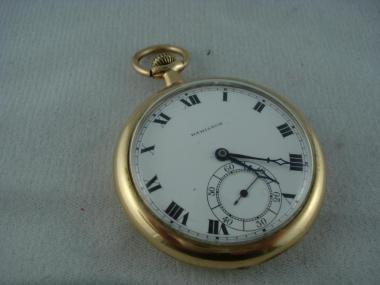 Hamilton 17 Jewel Gold Toned Pocket Watch 1836650