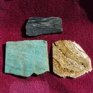 amazonite rough travertine rough zebra jasper rough 3 slabs for cabbing lapidary