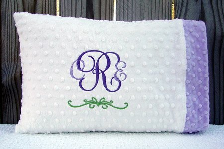 Personalized Minky Baby or Toddler Pillowcase