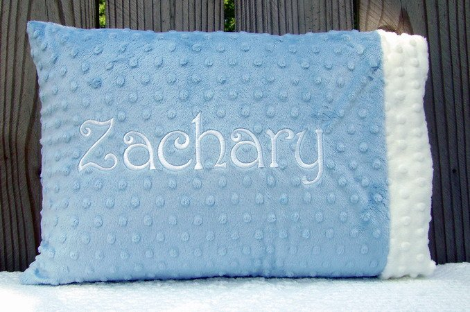 Monogrammed ~ Personalized  Baby Pillowcase