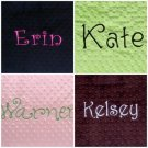 Monogrammed Personalized Standard Minky Pillowcase