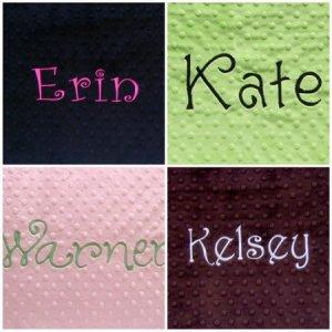 Monogrammed Personalized Standard Minky Pillowcase