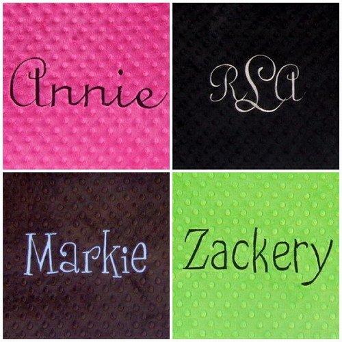Personalized Monogrammed Standard Minky Pillowcase