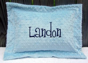 Personalized Monogrammed Minky Baby/Toddler Pillow