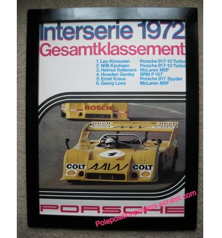 Interserie 1972 Gesamtklassement