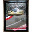 24 Studen Le Mans '85, Porsche Gratuliert Dem Joest Racing Team