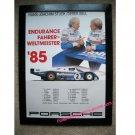 Hans-Joachim Stuck/Derek Bell Endurance Fahrerweltmeister '85