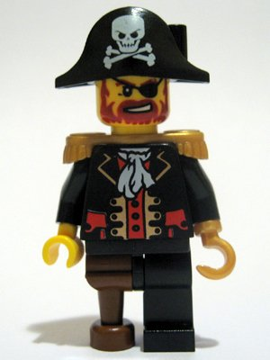 New Lego 174 Captain Blackbeard Minifigure