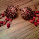 Handmade Sunset Sheilds Earrings