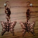 Handmade Bronze Butterfly Earrings