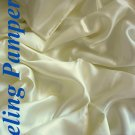 4 pcs Luxurious 100% silk charmeuse sheet sets Queen in Creamy Beige