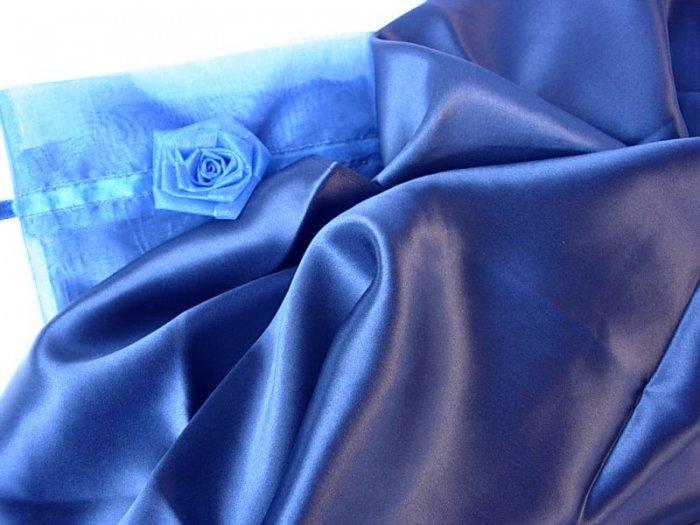 100% Silk pillowcase STD/QUEEN pillow case Navy Hair and Facial Beauty