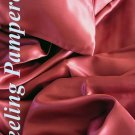 4 pcs Luxurious 100% silk charmeuse sheet sets Queen in Burgundy Red