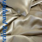 4 pcs Luxurious 100% silk charmeuse sheet sets Queen in Taupe
