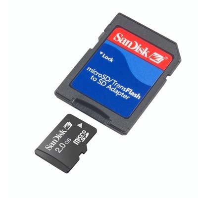 SanDisk Micro SD MicroSD 2GB 2 GB MEMORY STICK Card LG