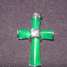 Green Jade Cross Pendant