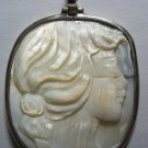 For sale carved seashell cameo.  The frame is handcraft in silver 925