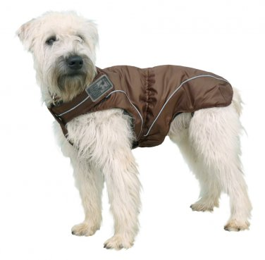 "Dog Winter Jacket w/ Fleece Lining Brown 17.5"" (M/L) by DogBite"