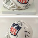 NFL Crest Mini Helmet Signed by Kaepernick / Griffin III / Wilson / Luck