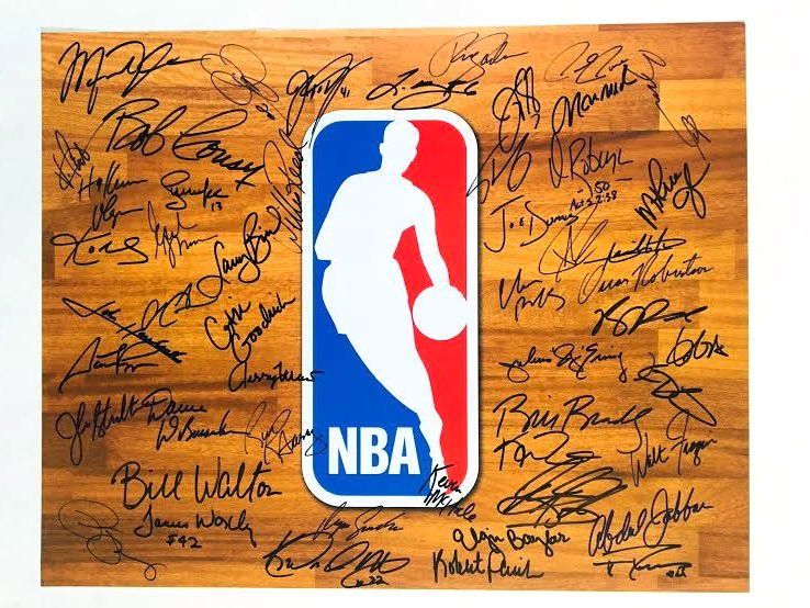 40+ NBA Legends Autographed 16x20 Photograph