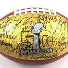 "Denver Broncos 2016 Team Signed Super Bowl 50 Game Football ""THE DUKE"""