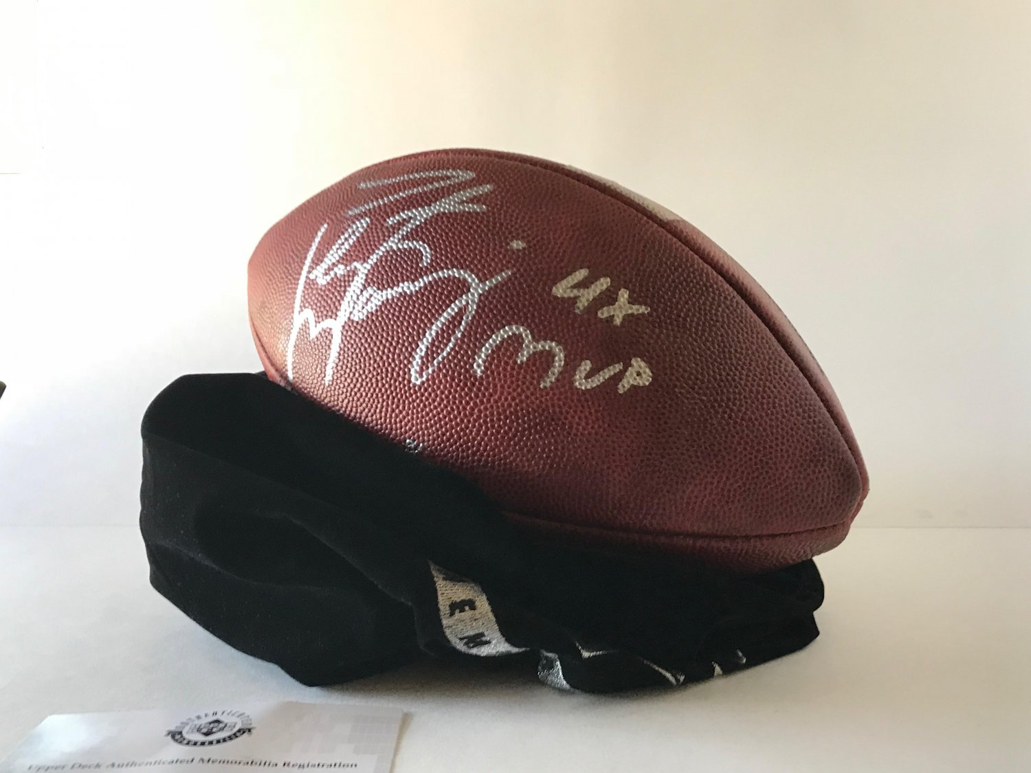 PEYTON MANNING AUTOGRAPHED & INSCRIBED 4X MVP WILSON FOOTBALL