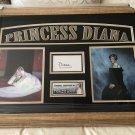 Princess Diana Autographed Signature Card (Custom Framed)