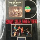 "Crosby, Stills, Nash & Young ""Deja Vu"" Autographed Album Cover (Custom Framed)"