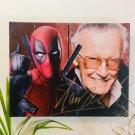 Stan Lee Autograph Reprint 11x14 Canvas Print Wall Art