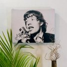 Mick Jagger Rolling Stones Autographed RP 11x14 Canvas Print Wall Art